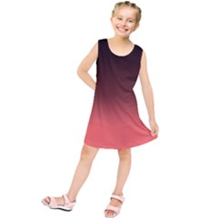 Coral To Black  Kids  Tunic Dress