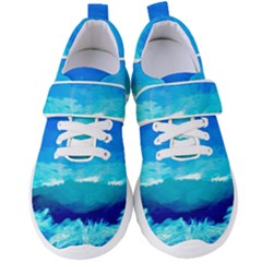 Blue Sky Artwork Drawing Painting Women s Velcro Strap Shoes