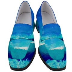 Blue Sky Artwork Drawing Painting Women s Chunky Heel Loafers by Pakrebo