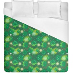 4 Leaf Clover Star Glitter Seamless Duvet Cover (king Size)
