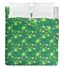 4 Leaf Clover Star Glitter Seamless Duvet Cover Double Side (queen Size) by Pakrebo