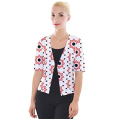 Flower Star Cropped Button Cardigan by TimelessFashion