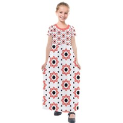 Flower Star Kids  Short Sleeve Maxi Dress