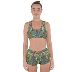 Raining Paradise Flowers In The Moon Light Night Racerback Boyleg Bikini Set by pepitasart