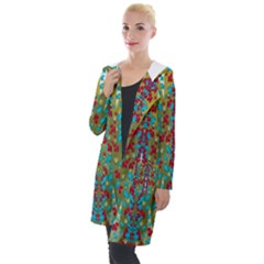 Raining Paradise Flowers In The Moon Light Night Hooded Pocket Cardigan by pepitasart