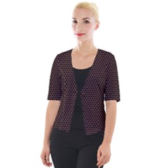 Hexagon Effect  Cropped Button Cardigan