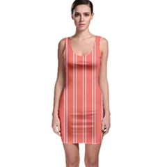 Nice Stripes In Coral Bodycon Dress