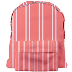 Nice Stripes In Coral Giant Full Print Backpack