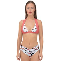 Simply Retro Double Strap Halter Bikini Set by TimelessFashion