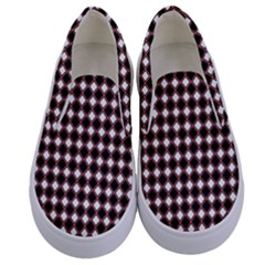 Square Effect Kids  Canvas Slip Ons