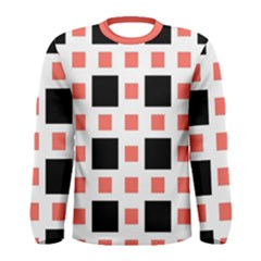 Squares On A Mission Men s Long Sleeve Tee by TimelessFashion