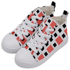 Squares On A Mission Kids  Mid Top Canvas Sneakers by TimelessFashion