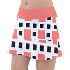 Squares On A Mission Tennis Skirt