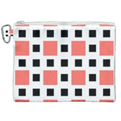 Squares On A Mission Canvas Cosmetic Bag (xxl)