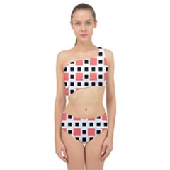 Squares On A Mission Spliced Up Two Piece Swimsuit