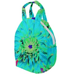 Aqua Cactus Dahlia Travel Backpacks by myrubiogarden