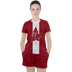 Cool Canada Women s Sportswear Mesh Tee And Shorts Set by CanadaSouvenirs