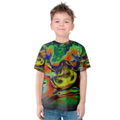 Abstract Transparent Background Kids  Cotton Tee by Pakrebo