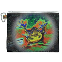 Abstract Transparent Background Canvas Cosmetic Bag (xxl)