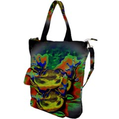Abstract Transparent Background Shoulder Tote Bag