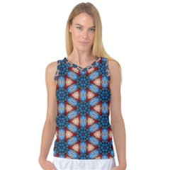 Pattern Tile Background Seamless Women s Basketball Tank Top