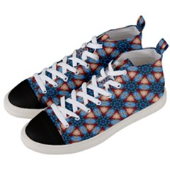 Pattern Tile Background Seamless Men s Mid Top Canvas Sneakers by Pakrebo