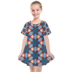 Pattern Tile Background Seamless Kids  Smock Dress by Pakrebo
