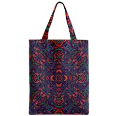Tile Repeating Colors Textur Zipper Classic Tote Bag