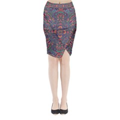 Tile Repeating Colors Textur Midi Wrap Pencil Skirt