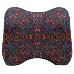 Tile Repeating Colors Textur Velour Head Support Cushion