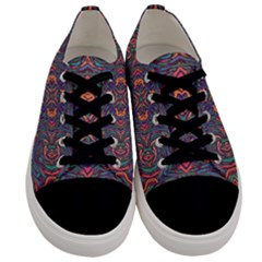 Tile Repeating Colors Textur Men s Low Top Canvas Sneakers