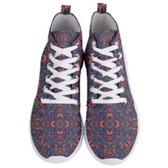 Tile Repeating Colors Textur Men s Lightweight High Top Sneakers