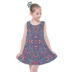 Tile Repeating Colors Textur Kids  Summer Dress