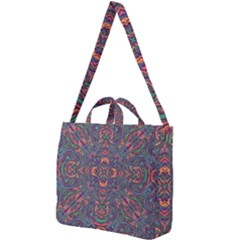 Tile Repeating Colors Textur Square Shoulder Tote Bag by Pakrebo