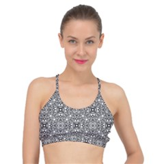 Black White Geometric Background Basic Training Sports Bra