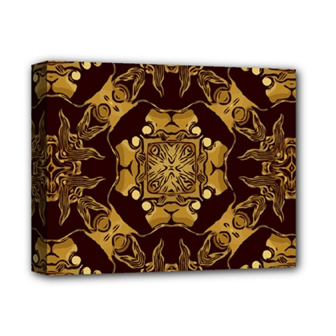 Gold Black Book Cover Ornate Deluxe Canvas 14  X 11  (stretched)
