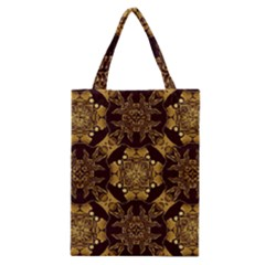 Gold Black Book Cover Ornate Classic Tote Bag