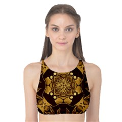 Gold Black Book Cover Ornate Tank Bikini Top