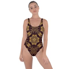 Gold Black Book Cover Ornate Bring Sexy Back Swimsuit