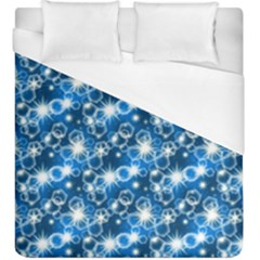 Star Hexagon Blue Deep Blue Light Duvet Cover (king Size) by Pakrebo