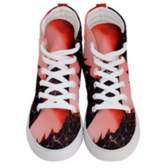 Sci Fi Red Fantasy Futuristic Men s Hi Top Skate Sneakers