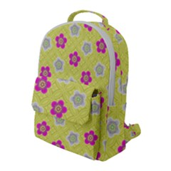 Traditional Patterns Plum Flap Pocket Backpack (large)