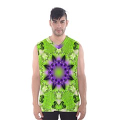 Pattern Abstract Background Art Green Men s Basketball Tank Top