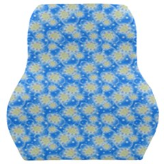 Hydrangea Blue Glitter Round Car Seat Back Cushion
