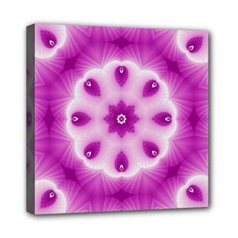 Pattern Abstract Background Art Purple Mini Canvas 8  X 8  (stretched)