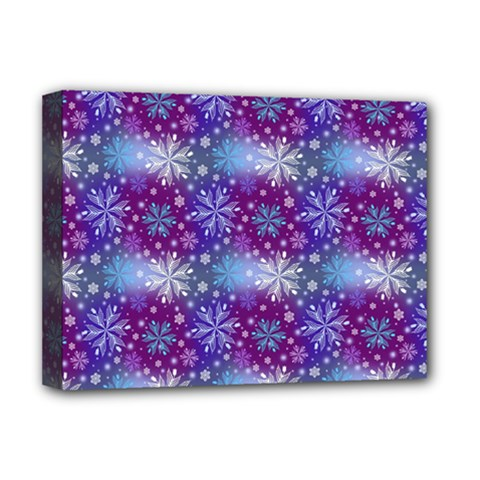 Snow White Blue Purple Tulip Deluxe Canvas 16  X 12  (stretched)