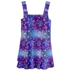 Snow White Blue Purple Tulip Kids  Layered Skirt Swimsuit