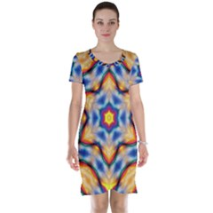 Pattern Abstract Background Art Short Sleeve Nightdress