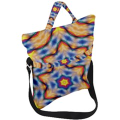 Pattern Abstract Background Art Fold Over Handle Tote Bag