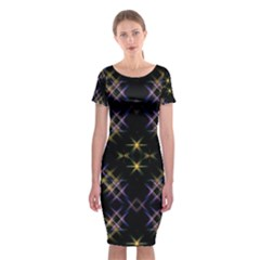 Seamless Background Abstract Vector Classic Short Sleeve Midi Dress